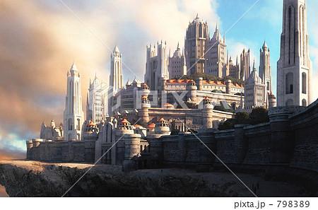 城 都市風景 ファンタジー アートのイラスト素材 Pixta