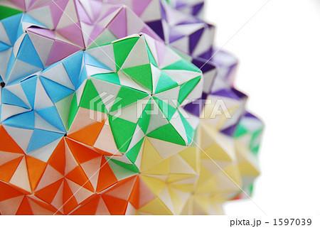 ハート 折り紙 折り紙でくす玉 : pixta.jp