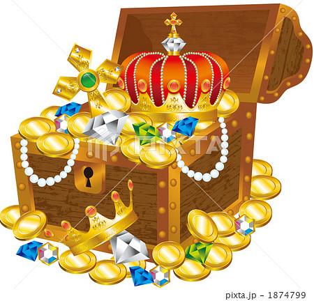 宝箱 宝 メダル コインの写真素...