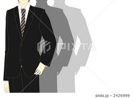 背広 社員 新入社員 スーツ姿のイラスト素材 Pixta