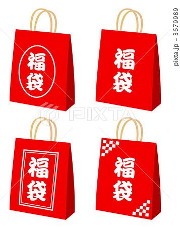 袋 福袋 ベクター 赤色の写真素材 Pixta