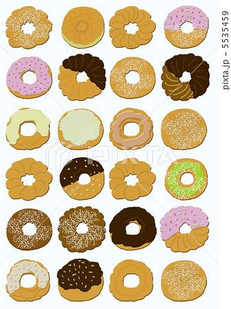 おいしいね大好きなドーナツのイラスト素材 5535459 Pixta