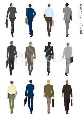 人物 男性 歩く 後ろ姿 男のイラスト素材 Pixta