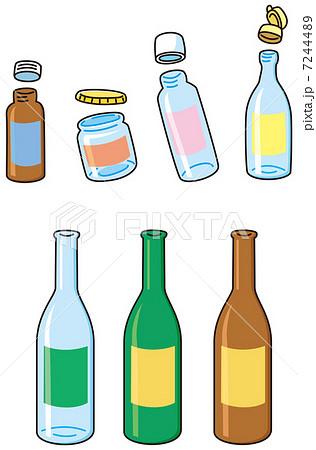 空き瓶のイラスト素材 Pixta