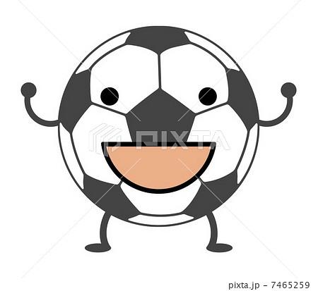 キャラクター サッカーボール かわいい 笑顔の写真素材 Pixta
