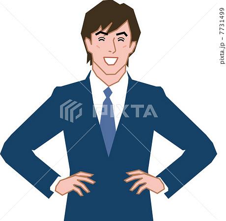 腰に手を当てる 男性のイラスト素材 Pixta