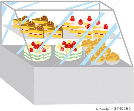 ケーキ ショーケース イラスト お菓子の写真・イラスト素材を検索中(5件中1件 , 5件を表示)