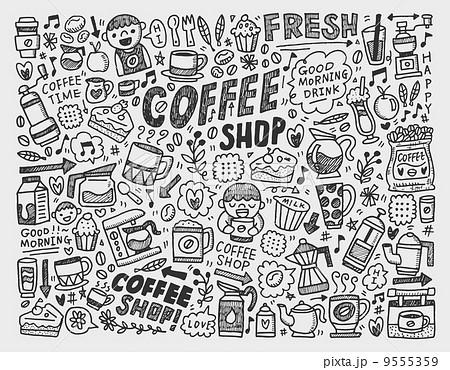 飾り ベクトル カフェ 喫茶店のイラスト素材 Pixta