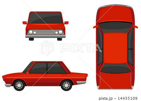 上から見た車 車のイラスト素材 Pixta