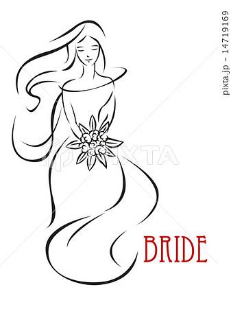 花嫁 ベクター フラワーシャワー ウエディングのイラスト素材 pixta
