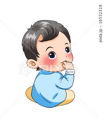 乳幼児 男の子 赤ちゃん 人物のイラスト素材 Pixta