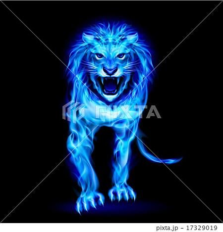 動物 ライオン 火 炎のイラスト素材 Pixta
