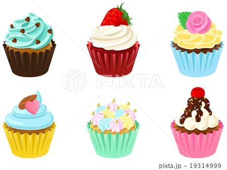 カップケーキ デコカップケーキ スイーツ かわいいのイラスト素材 Pixta
