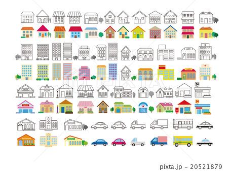 地図 イラスト パース 建物のイラスト素材 , PIXTA