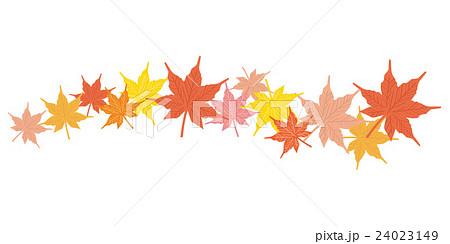 秋 かぼちゃ きのこ 紅葉 イラスト素材 5211658 フォトライブ