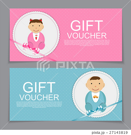 pixta baby gift voucher template vector illustration yelopaper Image collections
