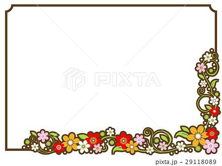 フレーム 枠 枠素材 シンプルフレームのイラスト素材 Pixta