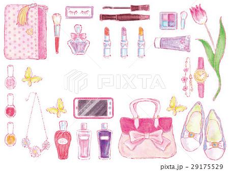 化粧ポーチのイラスト素材 Pixta