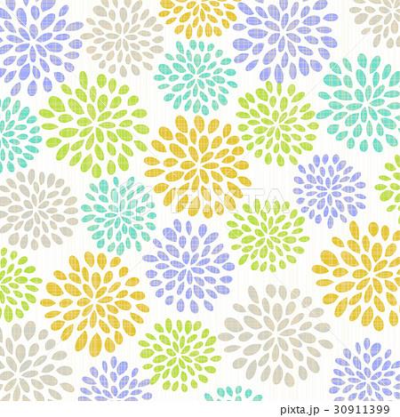 菊 菊の花 和柄 模様のイラスト素材 Pixta