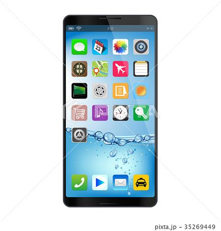 スマートフォン アイコン アプリ ホーム画面のイラスト素材 Pixta