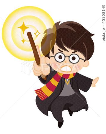魔法使い 魔法 魔術師 男の子のイラスト素材 Pixta