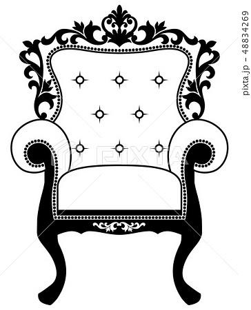 一人掛けソファのイラスト素材