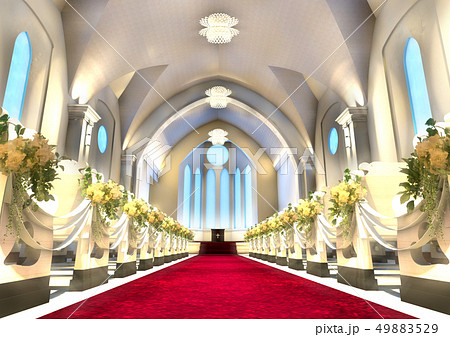 結婚式場 チャペル イラストのイラスト素材 Pixta