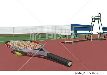 テニスコートのイラスト素材集 Pixtaピクスタ