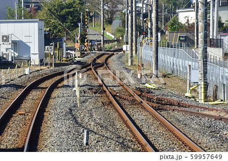 横取り装置 鉄道 分岐線の写真素材 - PIXTA