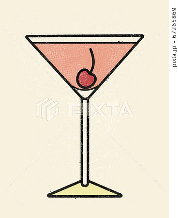 Classic Martini Manhattan Cocktail With Stock Illustration 67265869 Pixta